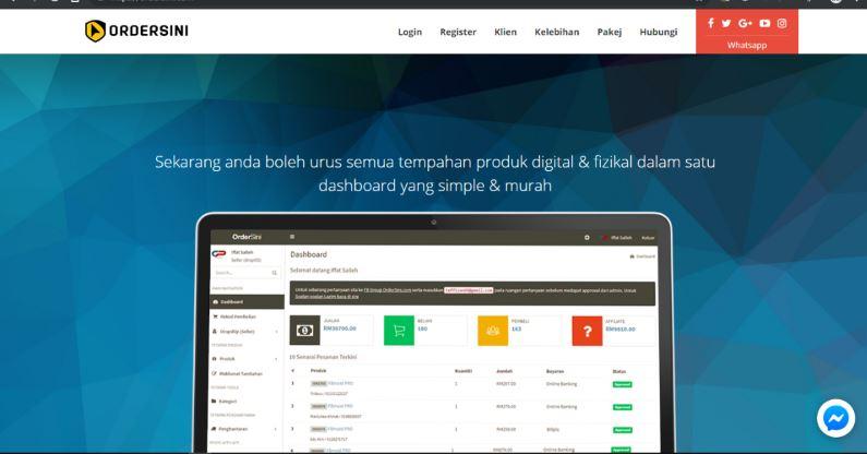 Platform Order Sini Homepage