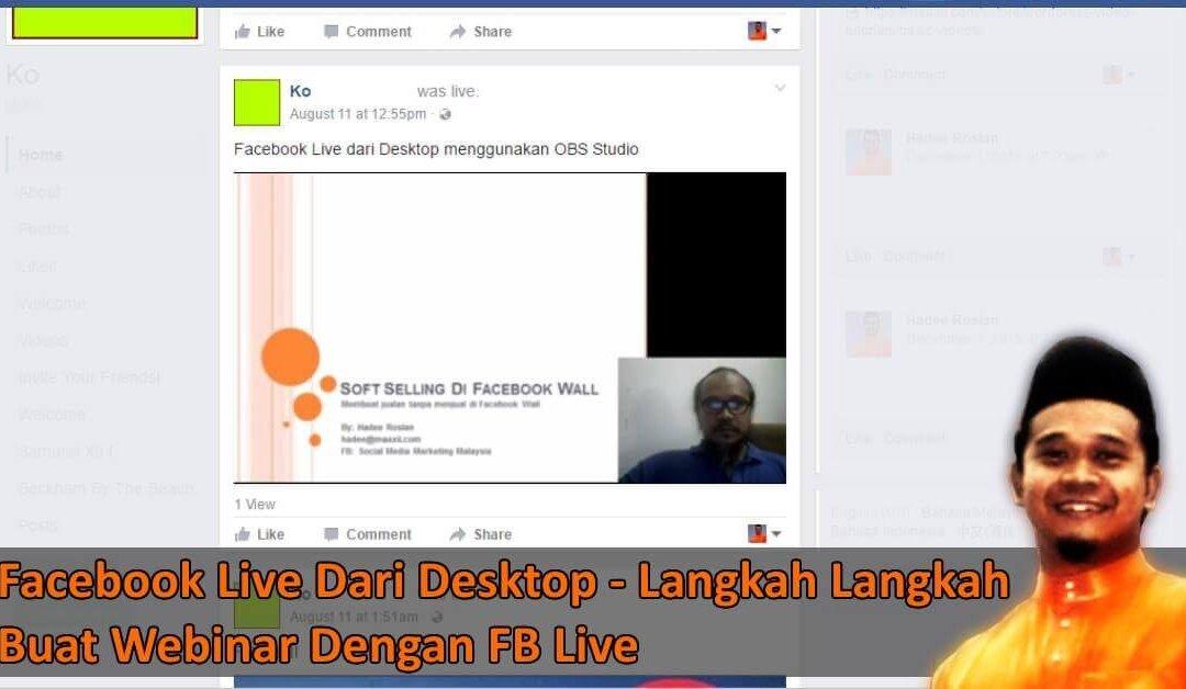 Facebook Live Dari Desktop