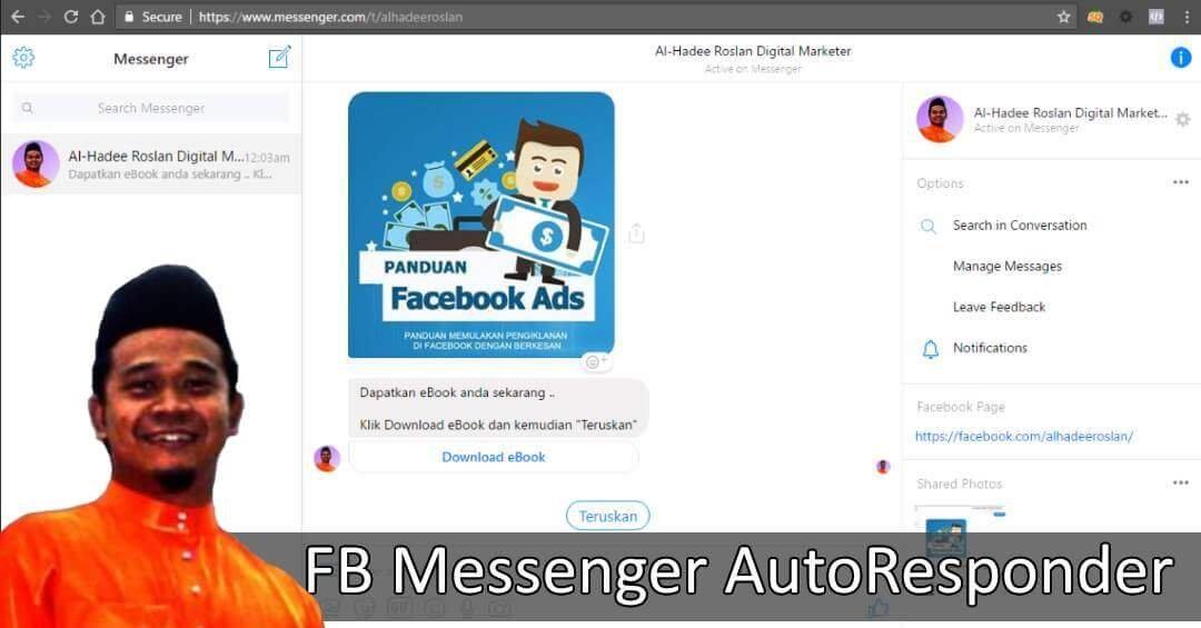 FB Messenger AutoResponder Percuma Dengan ChatFuel