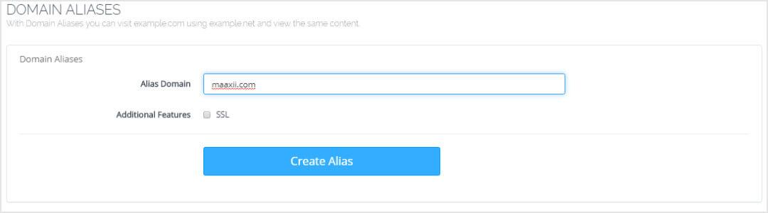 CyberPanel Create Domain Aliases