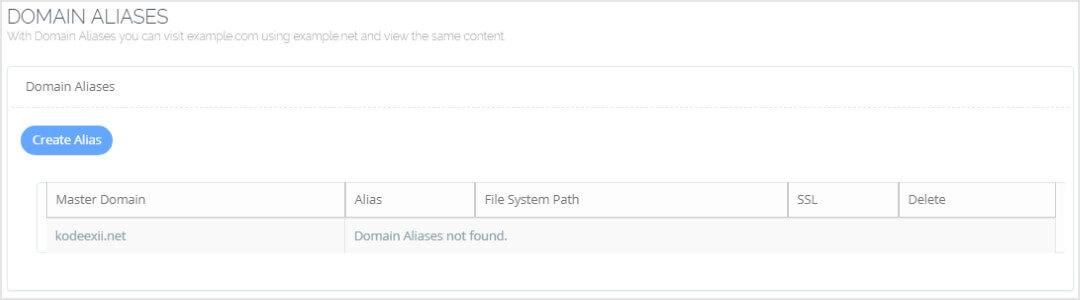 CyberPanel Domain Aliases