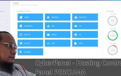 CyberPanel – Hosting Control Panel FREE Untuk VPS Anda