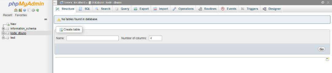 CyberPanel phpMyAdmin Empty Database