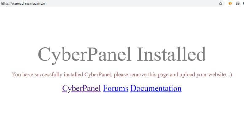 CyberPanel - Default Website Homepage