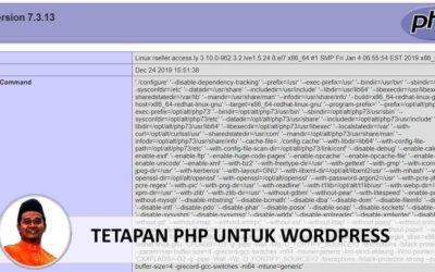 Tetapan PHP Untuk WordPress Dalam CPanel